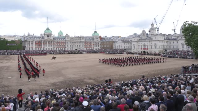 national anthem on june 08 2019 in london england - trooping the colour stock videos & royalty-free footage