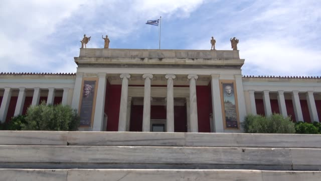 national archeological museum in athens greece - greece stock videos & royalty-free footage