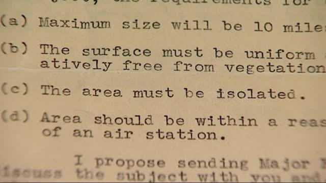 vidéos et rushes de national archives release colonial documents; close shot of letter outlining plans for testing of posion gas in botswana - laisser partir