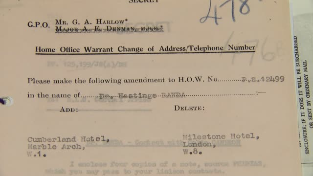 secret files released by mi5 england london national archives int general views of released mi5 secret files including documents on aleke banda... - イギリス情報局保安部点の映像素材/bロール