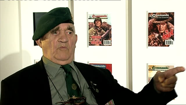 stockvideo's en b-roll-footage met national army museum exhibition on world war ii commandos; stan scott interview sot - on enlisting at 15, sent home / then met the lads from the... - in dienst gaan