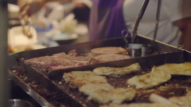 national asian street food: steak - hygiene stock videos & royalty-free footage