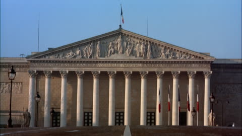 ms national assembly, paris, france - parliament building stock videos & royalty-free footage