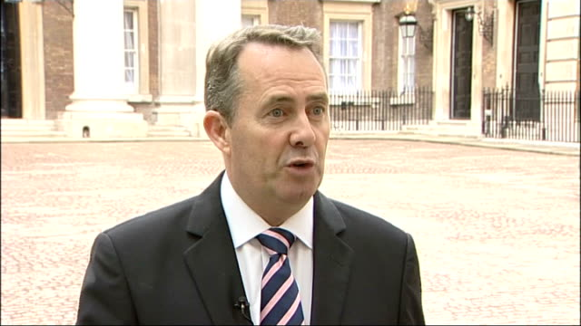 National Audit Office questions aircraft carrier cuts Liam Fox reaction ENGLAND London EXT Liam Fox MP interview SOT What is your response to the...