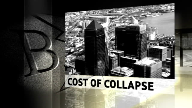 national audit office reveals cost of bank bailouts national audit office reveals cost of bank bailouts graphicised sequence cost of collapse - 緊急援助点の映像素材/bロール