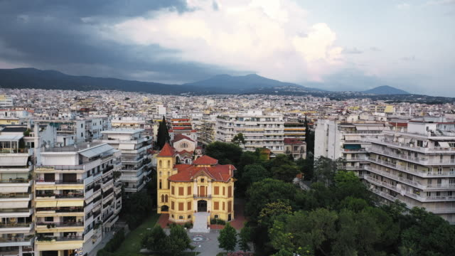 national bank cultural foundation and cultural center in thessaloniki - thessalonika stock videos & royalty-free footage