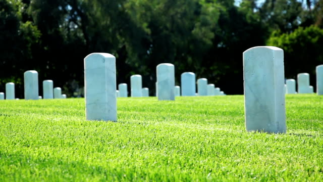 us national cemetery - grab stock-videos und b-roll-filmmaterial