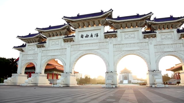 national chiang kai-shek memorial hall - chiang kaishek memorial hall stock videos & royalty-free footage