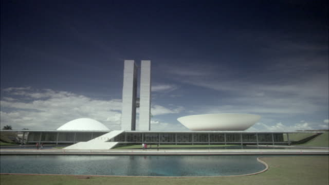 ws, national congress , brasilia, brazil - brasilia stock videos and b-roll footage