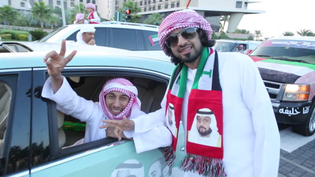 national day celebrations - dubai, uae - religion stock-videos und b-roll-filmmaterial