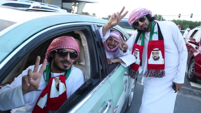 national day celebrations - dubai, uae - vereinigte arabische emirate stock-videos und b-roll-filmmaterial