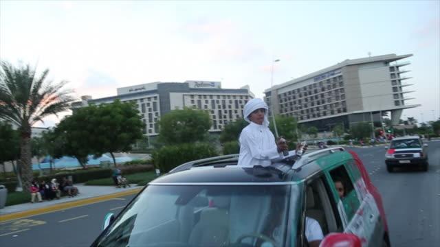 national day celebrations - dubai, uae - public celebratory event stock videos & royalty-free footage