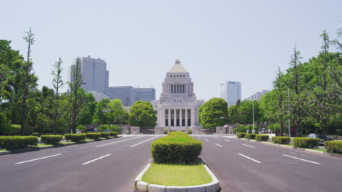 national diet building in tokyo, japan - parliament building stock videos & royalty-free footage