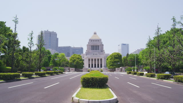 stockvideo's en b-roll-footage met national diet building in tokyo, japan - parliament building