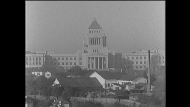 1959 national diet building of japan - orthographic symbol stock videos and b-roll footage