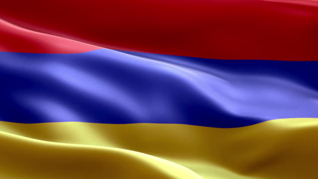 national flag armenian wave pattern loopable elements - eastern european culture stock videos & royalty-free footage