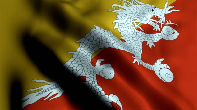 vidéos et rushes de drapeau national bhoutan - politique et gouvernement