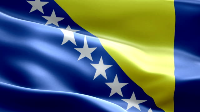 national flag bosnia wave pattern loopable elements - flag stock videos & royalty-free footage