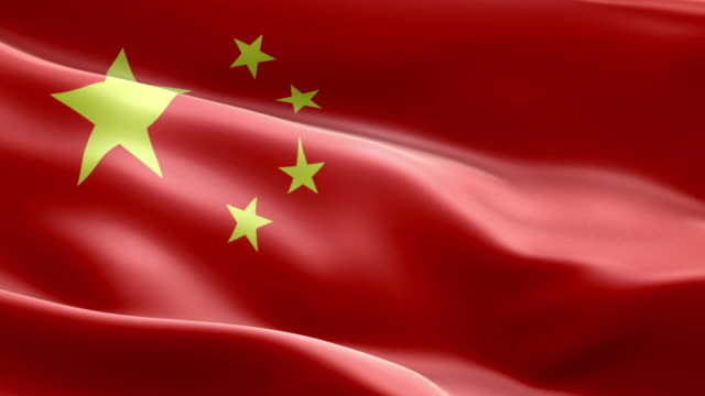 national flag china wave pattern loopable elements - chinese flag stock videos and b-roll footage