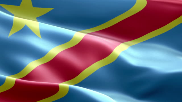 national flag democratic republic of the congo wave pattern loopable elements - democratic republic of the congo stock videos & royalty-free footage