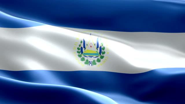 National flag El Salvador wave Pattern loopable Elements