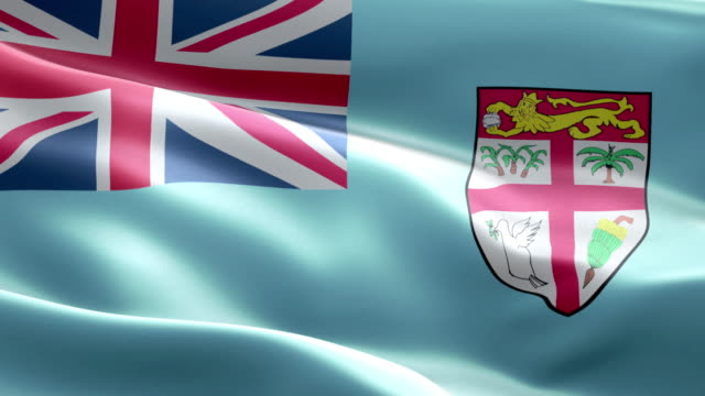 national flag fijian wave pattern loopable elements - fiji stock videos & royalty-free footage