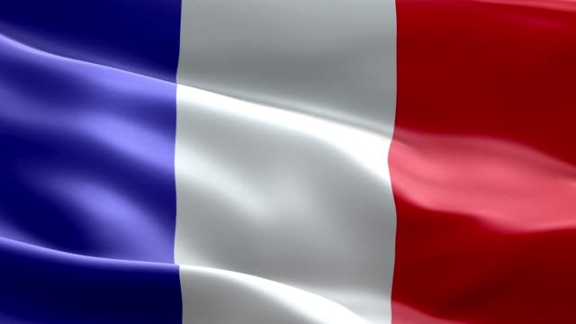 national flag france wave pattern loopable elements - flag stock videos & royalty-free footage