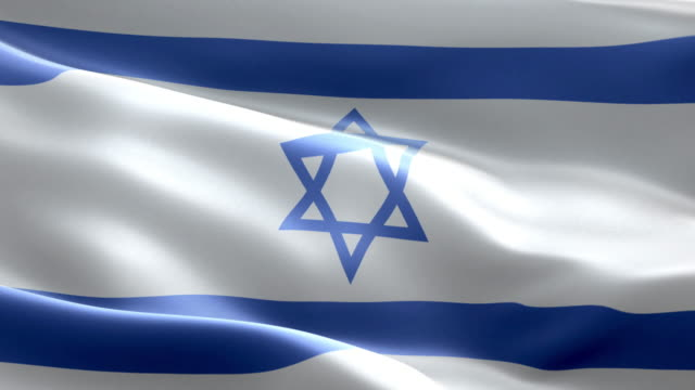 national flag israel wave pattern loopable elements - israelite stock videos & royalty-free footage