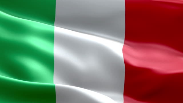 national flag italy wave pattern loopable elements - italian flag stock videos and b-roll footage