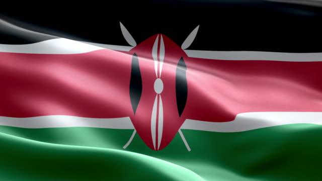 national flag kenyan wave pattern loopable elements - kenyan flag stock videos & royalty-free footage