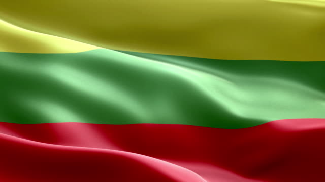 national flag lithuania wave pattern loopable elements - lithuania stock videos and b-roll footage