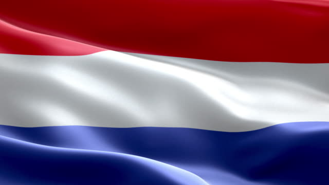 national flag netherlands wave pattern loopable elements - flag stock videos & royalty-free footage