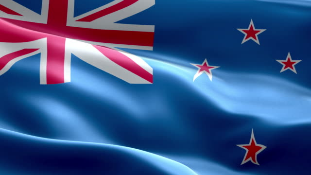 national flag new zealand wave pattern loopable elements - flag stock videos & royalty-free footage