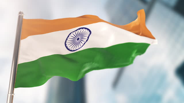 national flag of india. slow motion - indian politics stock videos & royalty-free footage