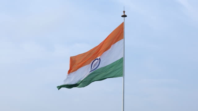 national flag of india - indian flag stock videos & royalty-free footage