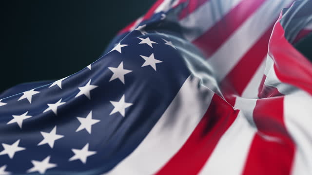 national flag of usa close-up. slow motion - stars and stripes stock videos & royalty-free footage