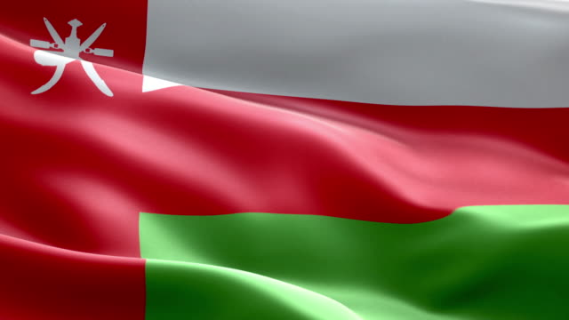 national flag oman wave pattern loopable elements - oman flag stock videos and b-roll footage