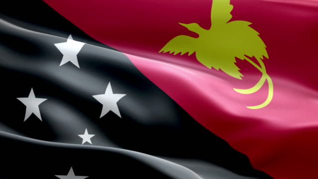 national flag papua new guinea wave pattern loopable elements - papua stock videos and b-roll footage