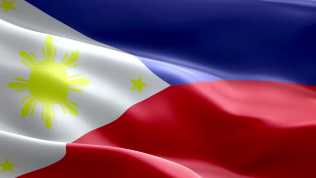 national flag philippines wave pattern loopable elements - philippines flag stock videos & royalty-free footage