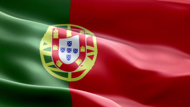 National flag Portugal wave Pattern loopable Elements
