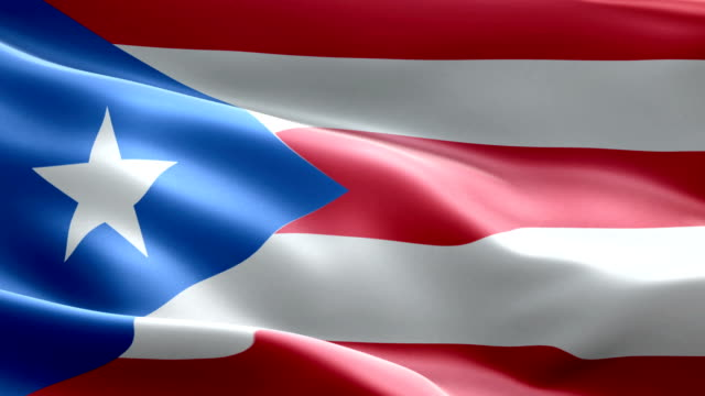 National flag Puerto Rico wave Pattern loopable Elements