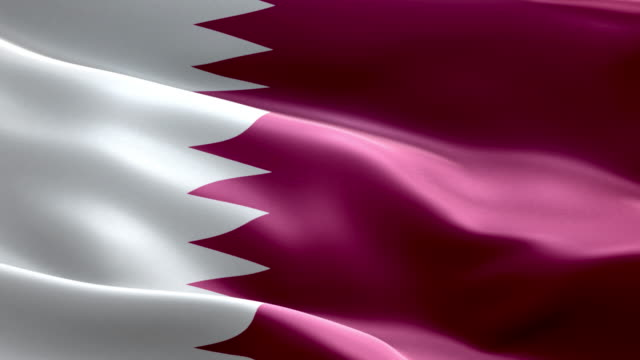 National flag Qatar wave Pattern loopable Elements