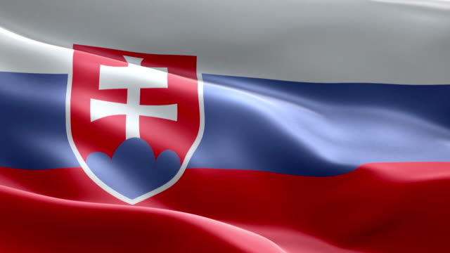 National flag Slovakia wave Pattern loopable Elements