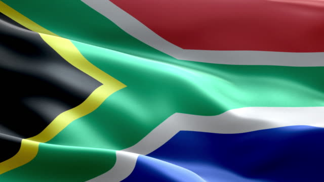 Nationale vlag Zuid-Afrika Golf patroon loopbare elementen
