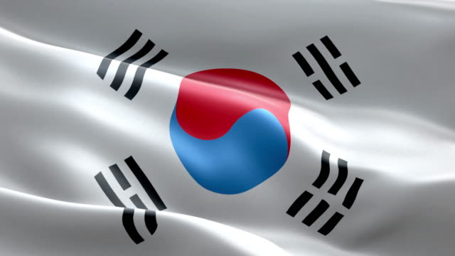 national flag south korea wave pattern loopable elements - south korean flag stock videos & royalty-free footage