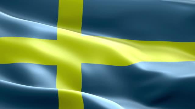 stockvideo's en b-roll-footage met nationale vlag zweden golf patroon loopbare elementen - nationale vlag