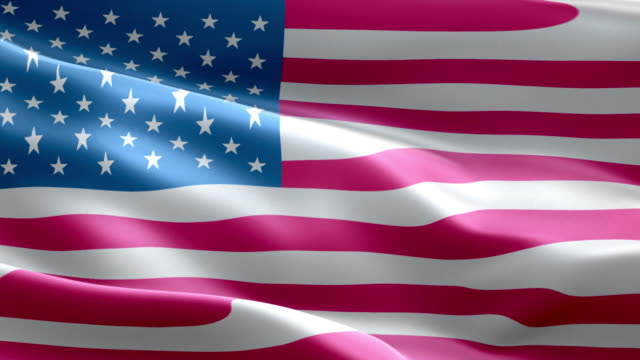 national flag usa wave pattern loopable elements - us flag stock videos and b-roll footage