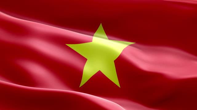 ベトナムの国旗波パターン ループ可能要素