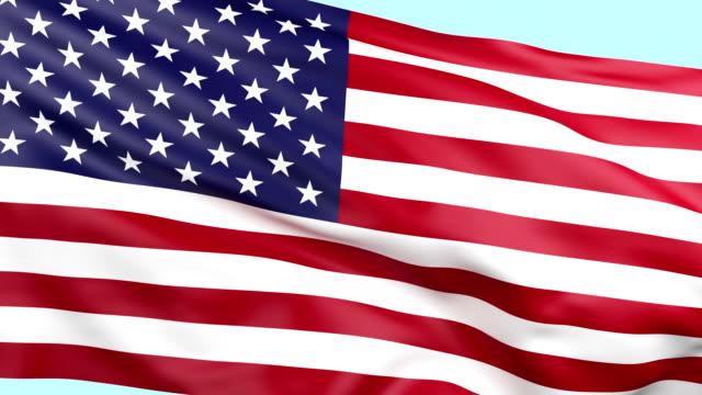 US National Flag waving loopable
