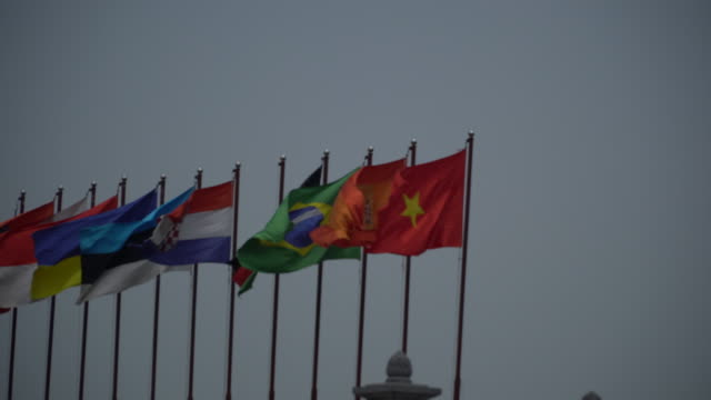 National flags in Singapore